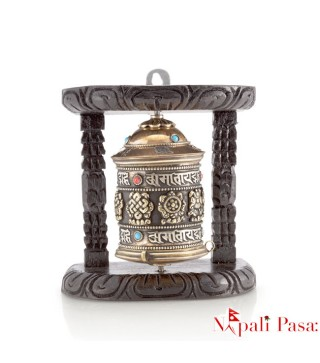 Mane (Wall Hanging wooden Frame Prayer Wheel)